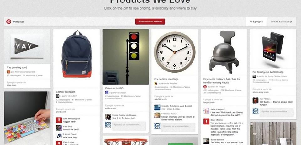 Pinterest, premier influenceur social lors de l'acte d'achats