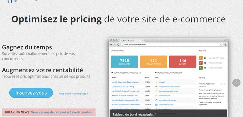 Pricing Assistant surveille les prix de vos concurrents