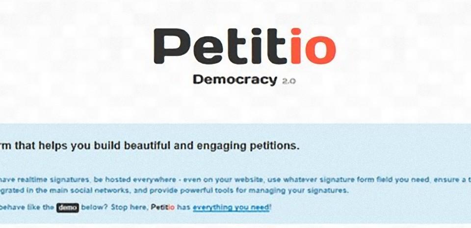 Lancez vos propres pétitions sur internet