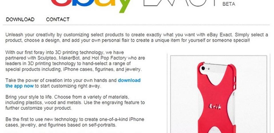 eBay Exact, l'impression 3D livrée à domicile depuis votre iPhone