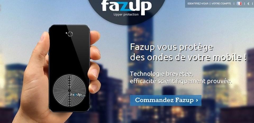 Fazup, un patch pour se protéger des ondes de son mobile