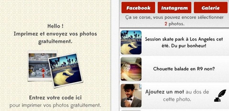 Take It, le développement gratuit des photos sur smartphone