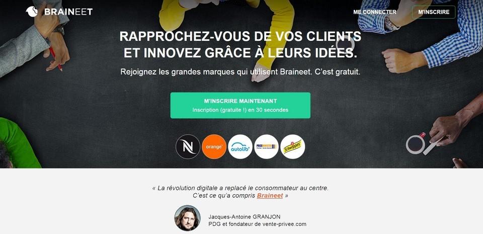 Braineet, un réseau social qui place le  consommateur au centre