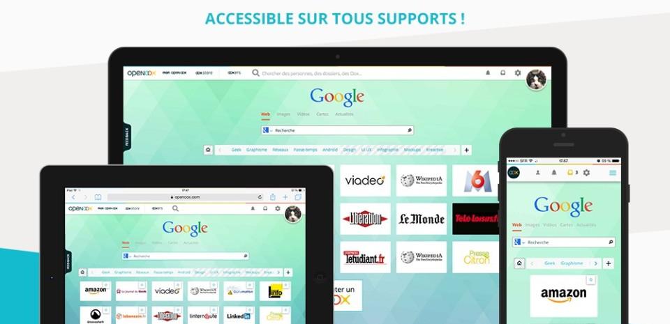 Openoox, une page de démarrage futée pour votre navigateur