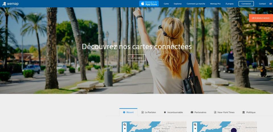 Wemap, le nouveau réseau social sur carte digitale