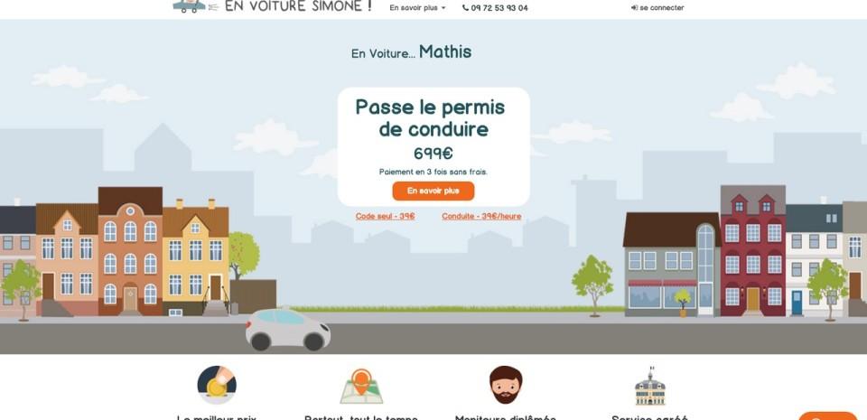 En Voiture Simone, le permis auto moins cher sur Internet