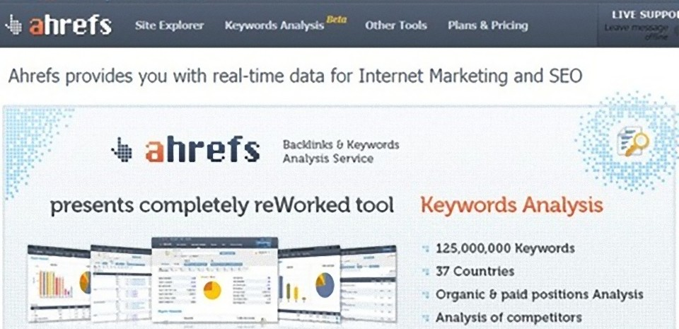 Analyse de site web et backlinks avec Ahrefs