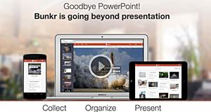 Bunkr, an alternative to PowerPoint
