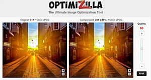 Optimizilla, un web service efficace pour compresser les images