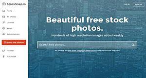 StockSnap, une banque de photos  libres de droit et gratuites en HD