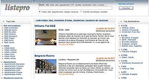 Listepro, outil de recherche d'hébergements de vacances