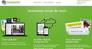 Evernote organise les notes, infos et documents sur le web