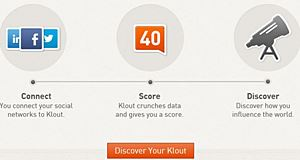 Klout, a social media tool that measures your online influence