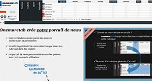 OneMore tab : pour une veille intelligente de la presse en ligne