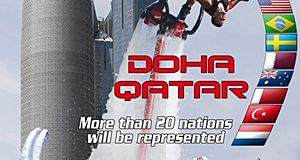 The first FlyBoard World Cup Championships in Doha
