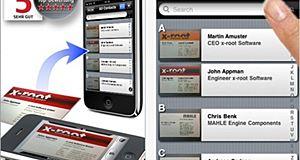 Une application pratique pour numériser les données des cartes de visite