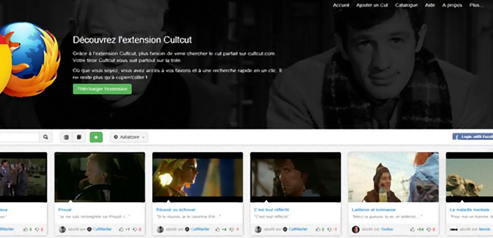 CultCut, les répliques cultes du cinéma sur mobile