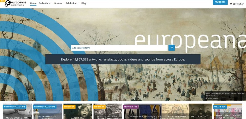 Le moteur de recherche Europeana ouvre son immense base de données culturelles