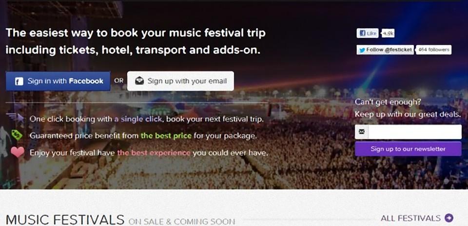 Festicket, l'agence de voyage dédiée aux festivals de musique