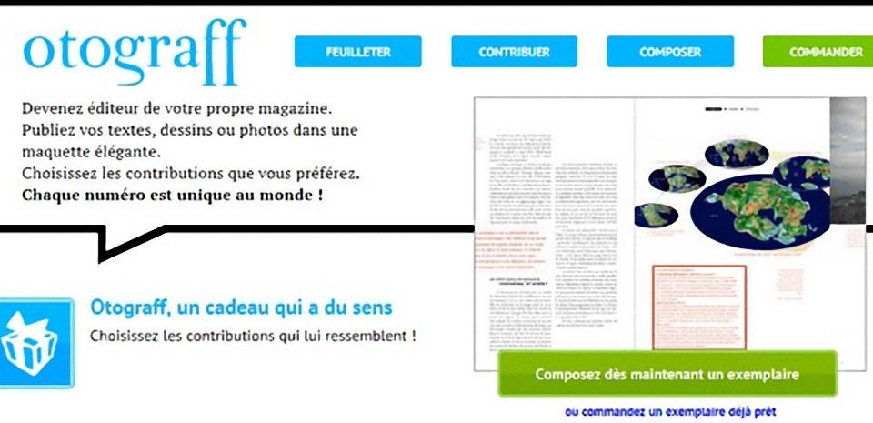 Otograff, une très belle revue à personnnaliser en ligne