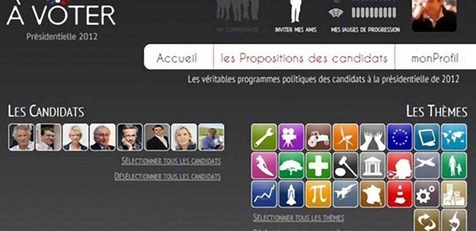 àVoter une application interactive pour l'élection présidentielle 2012