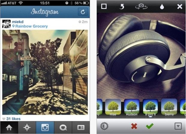 Instagram version 2.0, top application retouche photo
